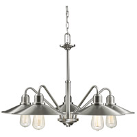 Z-Lite Casa 5 Light Chandelier in Brushed Nickel 613-5-BN
