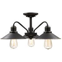 Z-Lite 613SF-OB Casa 3 Light 20 inch Olde Bronze Semi Flush Mount Ceiling Light