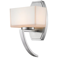 Z-Lite Cardine 1 Light Wall Sconce in Brushed Nickel with Matte Opal Glass Shade 614-1SBN