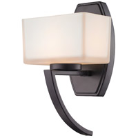 Z-Lite Cardine 1 Light Wall Sconce in Bronze with Matte Opal Glass Shade 614-1SBRZ