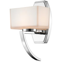 Z-Lite Cardine 1 Light Wall Sconce in Chrome with Matte Opal Glass Shade 614-1SCH