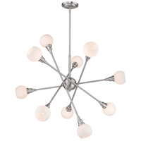 Tian 10 Light 39 inch Brushed Nickel Pendant Ceiling Light in G9