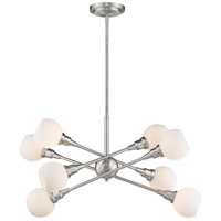 Tian 8 Light 32 inch Brushed Nickel Pendant Ceiling Light