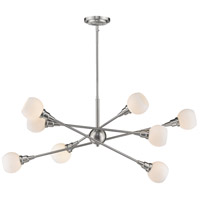 Tian 8 Light 45 inch Brushed Nickel Pendant Ceiling Light