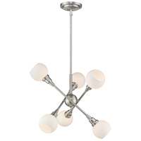 Tian 6 Light 26 inch Brushed Nickel Pendant Ceiling Light