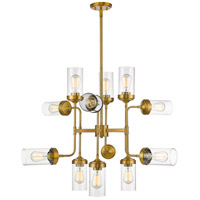 Calliope 12 Light 36 inch Foundry Brass Pendant Ceiling Light
