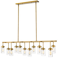 Calliope 12 Light 60 inch Foundry Brass Pendant Ceiling Light