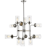 Z-Lite 617-12PN Calliope 12 Light 36 inch Polished Nickel Pendant Ceiling Light