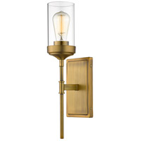 Z-Lite 617-1S-FB Calliope 1 Light 5 inch Foundry Brass Wall Sconce Wall Light