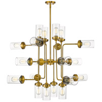 Z-Lite 617-20FB Calliope 20 Light 42 inch Foundry Brass Pendant Ceiling Light photo thumbnail