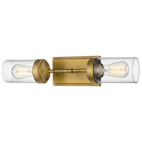 Z-Lite 617-2S-FB Calliope 2 Light 21 inch Foundry Brass Wall Sconce Wall Light