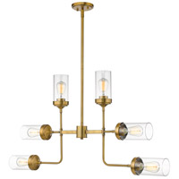 Z-Lite 617-6FB Calliope 6 Light 42 inch Foundry Brass Pendant Ceiling Light