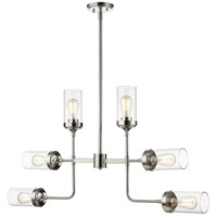 Z-Lite 617-6PN Calliope 6 Light 42 inch Polished Nickel Pendant Ceiling Light