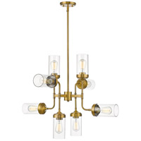 Z-Lite 617-8FB Calliope 8 Light 32 inch Foundry Brass Pendant Ceiling Light