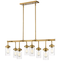 Z-Lite 617-8L-FB Calliope 8 Light 40 inch Foundry Brass Pendant Ceiling Light