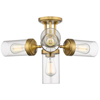 Calliope 4 Light 23 inch Foundry Brass Semi Flush Mount Ceiling Light