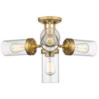 Z-Lite 617SF-FB Calliope 4 Light 23 inch Foundry Brass Semi Flush Mount Ceiling Light