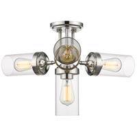 Calliope 4 Light 23 inch Polished Nickel Semi Flush Mount Ceiling Light