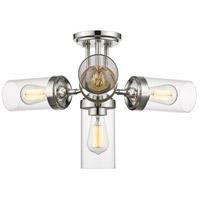 Z-Lite 617SF-PN Calliope 4 Light 23 inch Polished Nickel Semi Flush Mount Ceiling Light