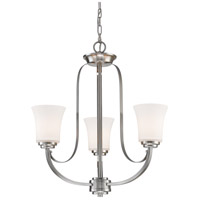 Z-Lite 7000-3BN Halliwell 3 Light 22 inch Brushed Nickel Chandelier Ceiling Light