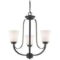 Halliwell 3 Light 22 inch Bronze Chandelier Ceiling Light