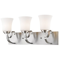 Halliwell 3 Light 22 inch Brushed Nickel Vanity Light Wall Light