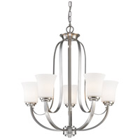 Z-Lite 7000-5BN Halliwell 5 Light 25 inch Brushed Nickel Chandelier Ceiling Light