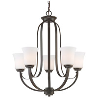 Z-Lite 7000-5BRZ Halliwell 5 Light 25 inch Bronze Chandelier Ceiling Light