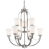 Z-Lite 7000-9BN Halliwell 9 Light 29 inch Brushed Nickel Chandelier Ceiling Light