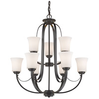Z-Lite 7000-9BRZ Halliwell 9 Light 29 inch Bronze Chandelier Ceiling Light