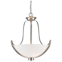 Halliwell 3 Light 20 inch Brushed Nickel Pendant Ceiling Light