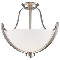 Z-Lite 7000SF-BN Halliwell 3 Light 18 inch Brushed Nickel Semi Flush Mount Ceiling Light