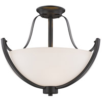 Z-Lite 7000SF-BRZ Halliwell 3 Light 18 inch Bronze Semi Flush Mount Ceiling Light