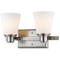 Z-Lite 7001-2V-BN Kayla 2 Light 14 inch Brushed Nickel Vanity Wall Light