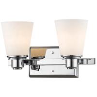 Z-Lite 7001-2V-CH Kayla 2 Light 14 inch Chrome Vanity Wall Light