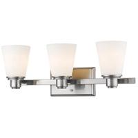 Z-Lite 7001-3V-BN Kayla 3 Light 22 inch Brushed Nickel Vanity Wall Light