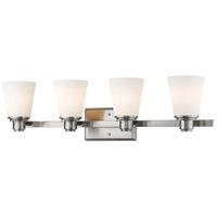 Z-Lite 7001-4V-BN Kayla 4 Light 30 inch Brushed Nickel Vanity Wall Light