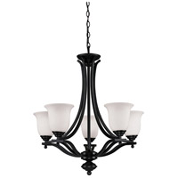 Lagoon 5 Light 27 inch Bronze Chandelier Ceiling Light