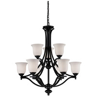 Z-Lite Lagoon 9 Light Chandelier in Bronze 702-9-BRZ