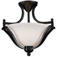 Lagoon 2 Light 15 inch Bronze Semi Flush Ceiling Light