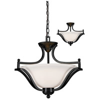 Z-Lite Lagoon 3 Light Convertible Pendant in Bronze 702SFC-BRZ