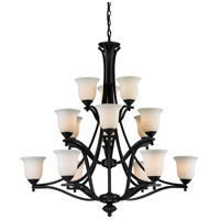 Z-Lite Lagoon 15 Light Chandelier in Matte Black 703-15-MB