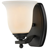 Lagoon 1 Light 8 inch Matte Black Vanity Wall Light