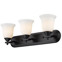 Z-Lite Lagoon 3 Light Vanity in Matte Black 703-3V-MB