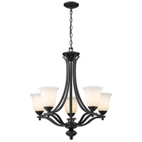Z-Lite Lagoon 5 Light Chandelier in Matte Black 703-5-MB