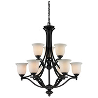 Z-Lite Lagoon 9 Light Chandelier in Matte Black 703-9-MB