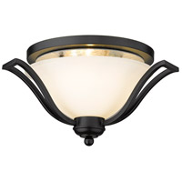 Z-Lite Lagoon 3 Light Flush Mount in Matte Black 703F3-MB