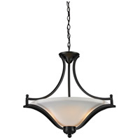 Z-Lite Lagoon 3 Light Pendant in Matte Black 703P-MB