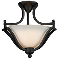 Lagoon 2 Light 15 inch Matte Black Semi Flush Mount Ceiling Light