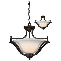 Z-Lite Lagoon 3 Light Convertible Pendant in Matte Black 703SFC-MB
